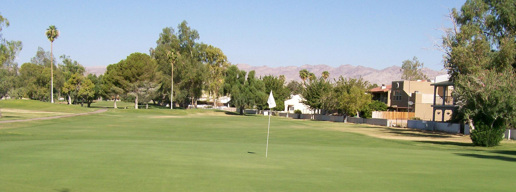 image is view of chaparral fairway and tee